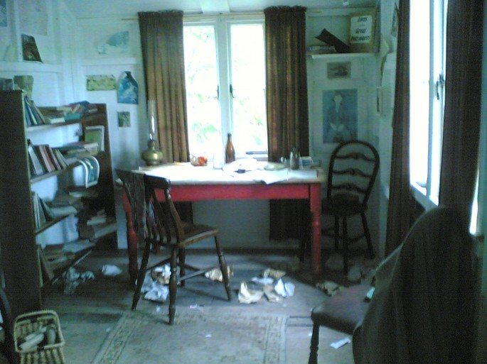 Dylan Thomas' shed where he wrote Under Milk Wood