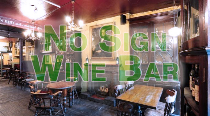 No Sign Wine Bar Swansea